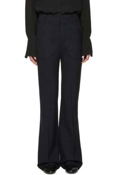 Chloé - Navy Stretch-Wool Trousers