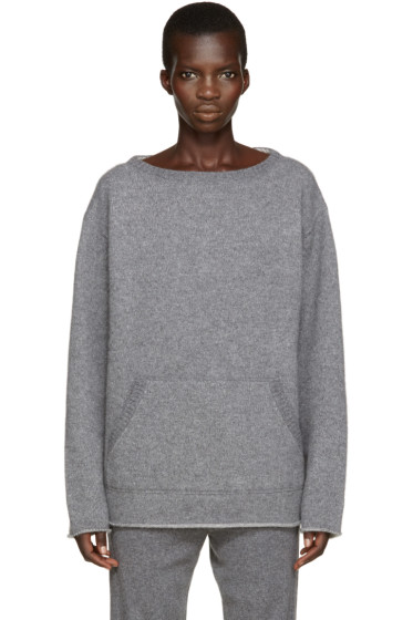 Chloé - Grey Cashmere Pocket Sweater