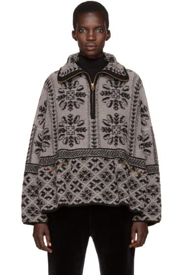 Chloé - Grey Zip-Up Sweater