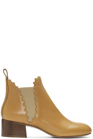Chloé - Tan Lauren Boots