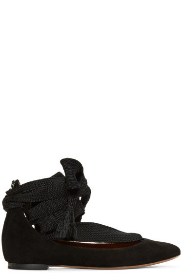 Chloé - Black Suede Harper Ballerina Flats