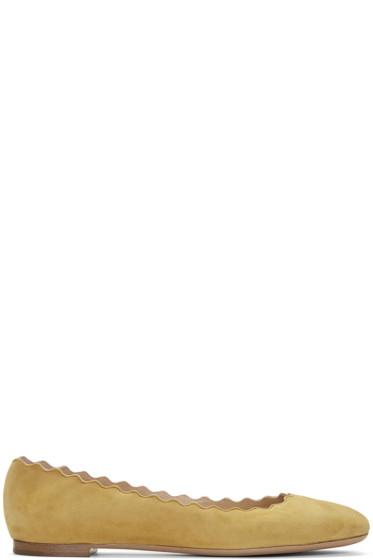 Chloé - Yellow Suede Lauren Ballerina Flats