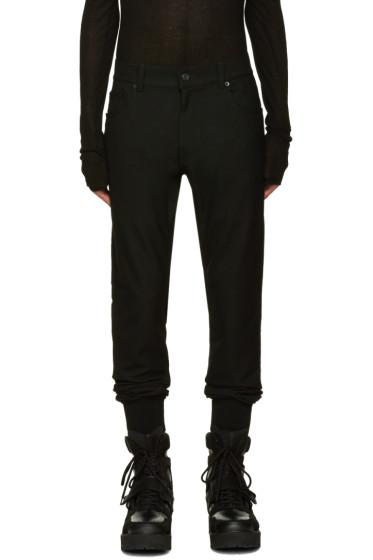 Juun.J - Black Wool Trousers