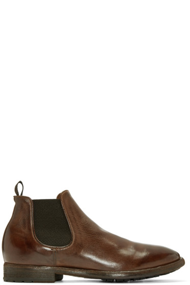 Officine Creative - Brown Princeton Chelsea Boots