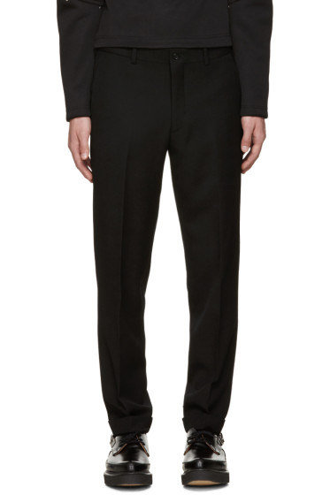 Comme des Garçons Homme Plus - Black Wool Cuffed Trousers