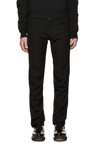 Comme des Garçons Homme Plus - Black Wool Skinny Trousers