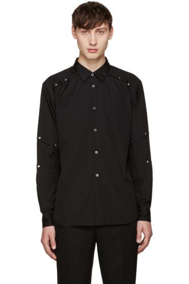 Comme des Garçons Homme Plus - Black Poplin Rivet Shirt