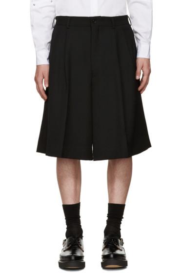 Comme des Garçons Homme Plus - Black Wool Shorts