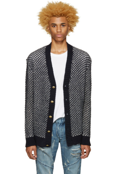 Pierre Balmain - Navy Knit Cardigan