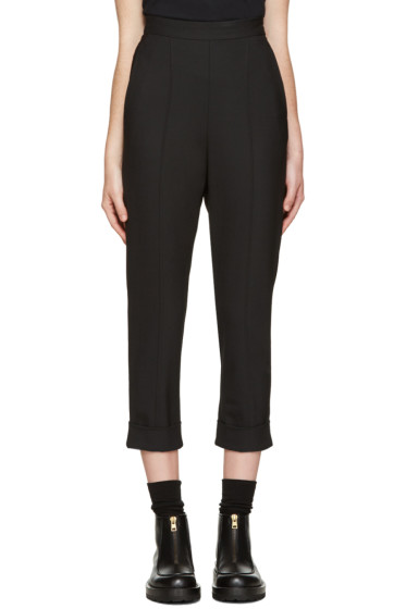 Neil Barrett - Black High-Rise Trousers