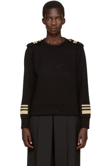 Neil Barrett - Black & Gold Military Pullover