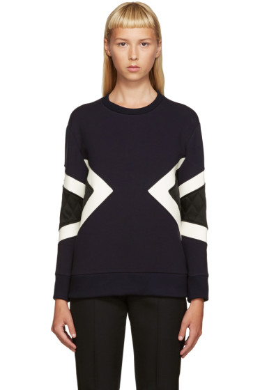 Neil Barrett - Navy Modernist Pullover