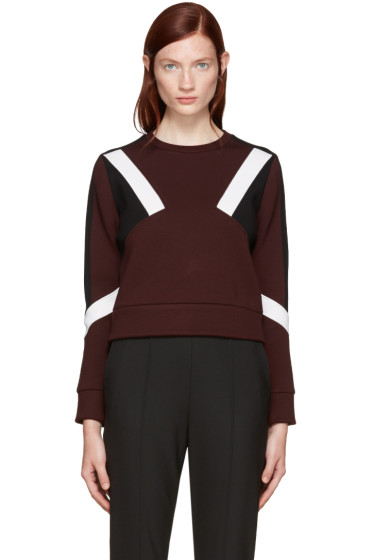 Neil Barrett - Burgundy Cropped Modernist Pullover