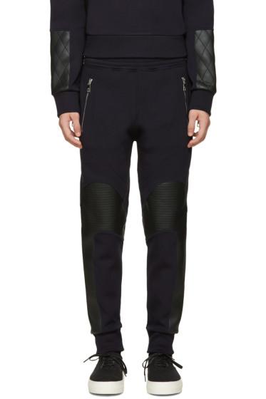 Neil Barrett - Navy Quilted Biker Lounge Pants