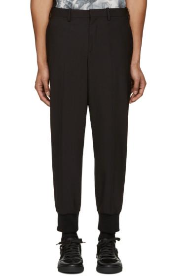 Neil Barrett - Black Ribbed Cuffs Trousers