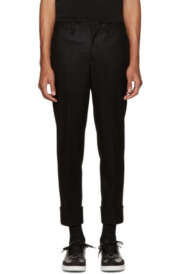 Neil Barrett - Black Slim Wool Trousers