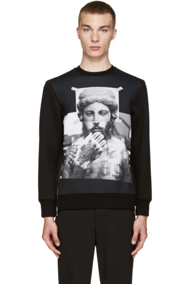 Neil Barrett - Black Tattooed Statue Pullover