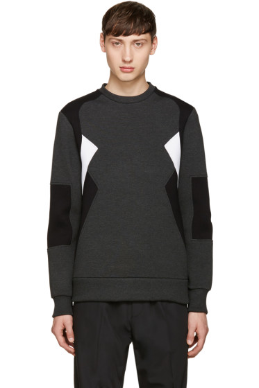 Neil Barrett - Grey Retro Modernist Pullover