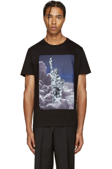 Neil Barrett - Black Liberty Presidents T-Shirt