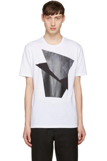 Neil Barrett - White Modernist Blocking T-Shirt