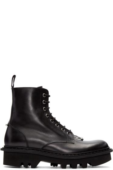 Neil Barrett - Black Pierced Punk Boots