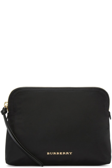 Burberry - Black Logo Cosmetic Case