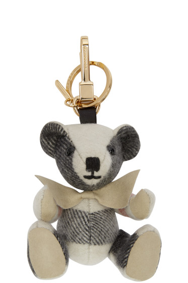 Burberry - Grey Cashmere Thomas Keychain
