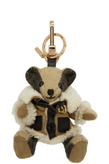 Burberry - Beige Aviator Thomas Keychain