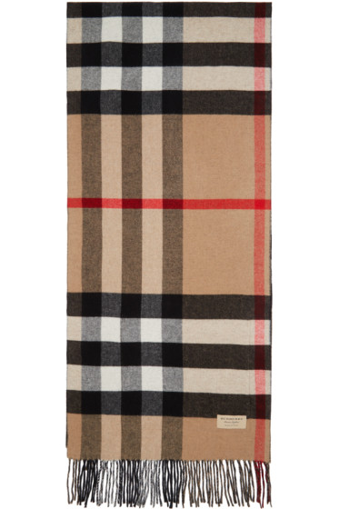 Burberry - Beige & Black Helene Pocket Stole