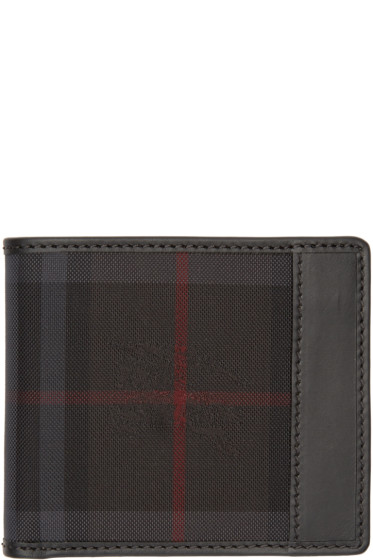 Burberry - Black Check Logo Wallet