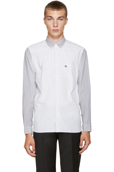 Burberry - Black & White Striped Jarrod Shirt