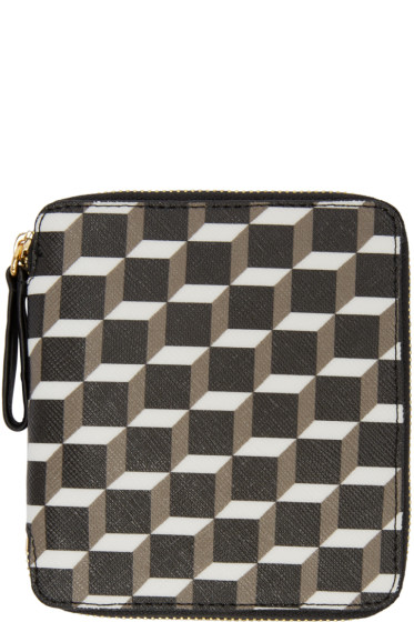 Pierre Hardy - Tricolor Perspective Cube Wallet