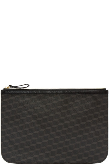 Pierre Hardy - Black Perspective Cube Zip Pouch