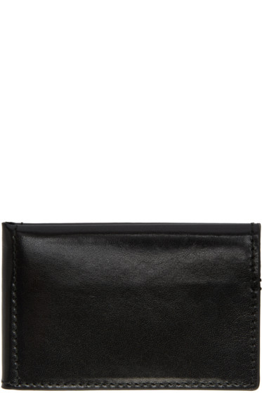 Ann Demeulemeester - Black Small Bifold Card Holder