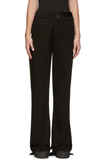 Ann Demeulemeester - Black Oversized Lounge Pants