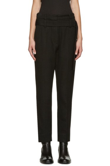 Ann Demeulemeester - Black Belted Trousers