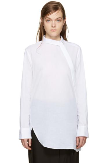 Ann Demeulemeester - White Draped Back Shirt