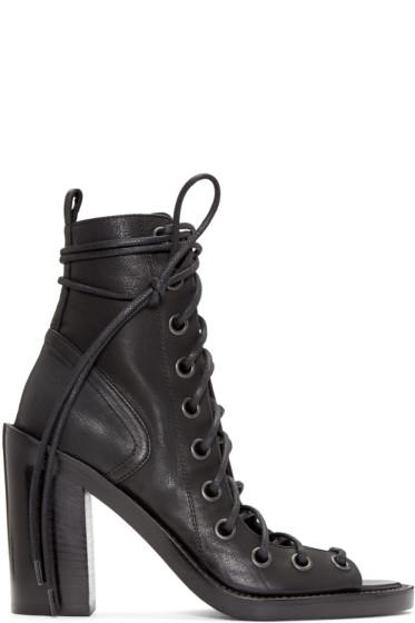Ann Demeulemeester - Black Lace-Up Sandals