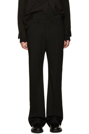 Ann Demeulemeester - Black Wide-Leg Wool Trousers