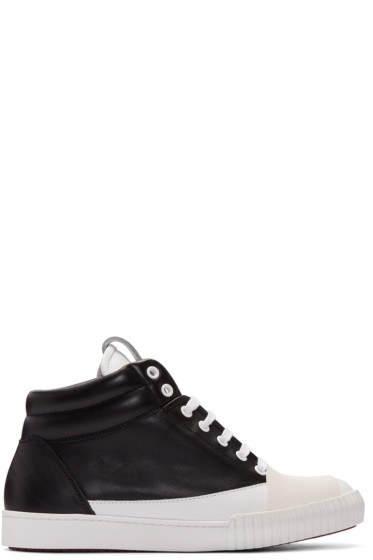 Marni - Black & White Cap Toe Sneakers