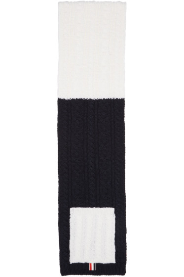 Thom Browne - Tricolor Funmix Pocket Scarf