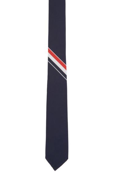 Thom Browne - Navy Striped Tie