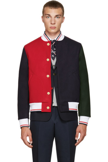 Thom Browne - Multicolor Varsity Bomber Jacket