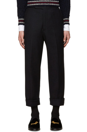 Thom Browne - Navy Beltloop Trousers
