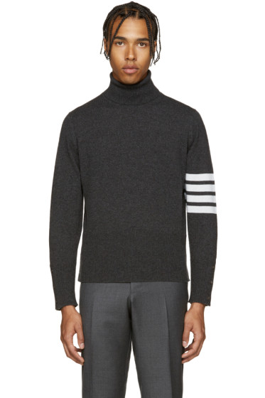 Thom Browne - Grey Cashmere Turtleneck