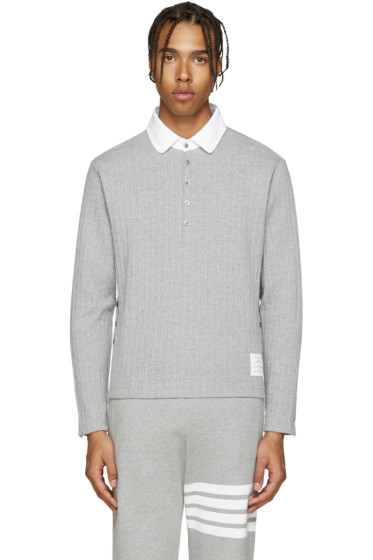 Thom Browne - Grey Round Collar Polo