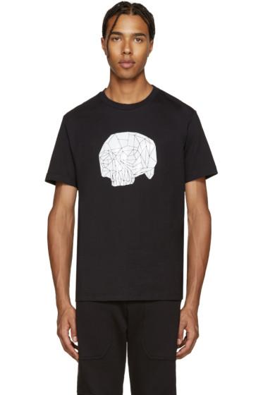 Markus Lupfer - Black Geometric Skull Print T-Shirt
