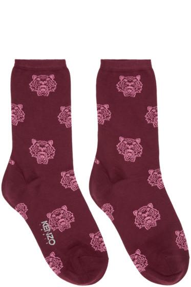 Kenzo - Burgundy Tiger Socks