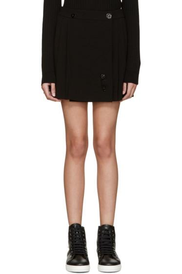Kenzo - Black Pleated Wrap Miniskirt