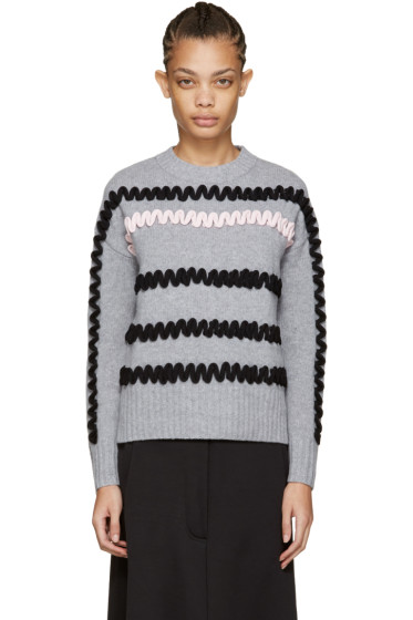 Kenzo - Grey Embroidered Sweater